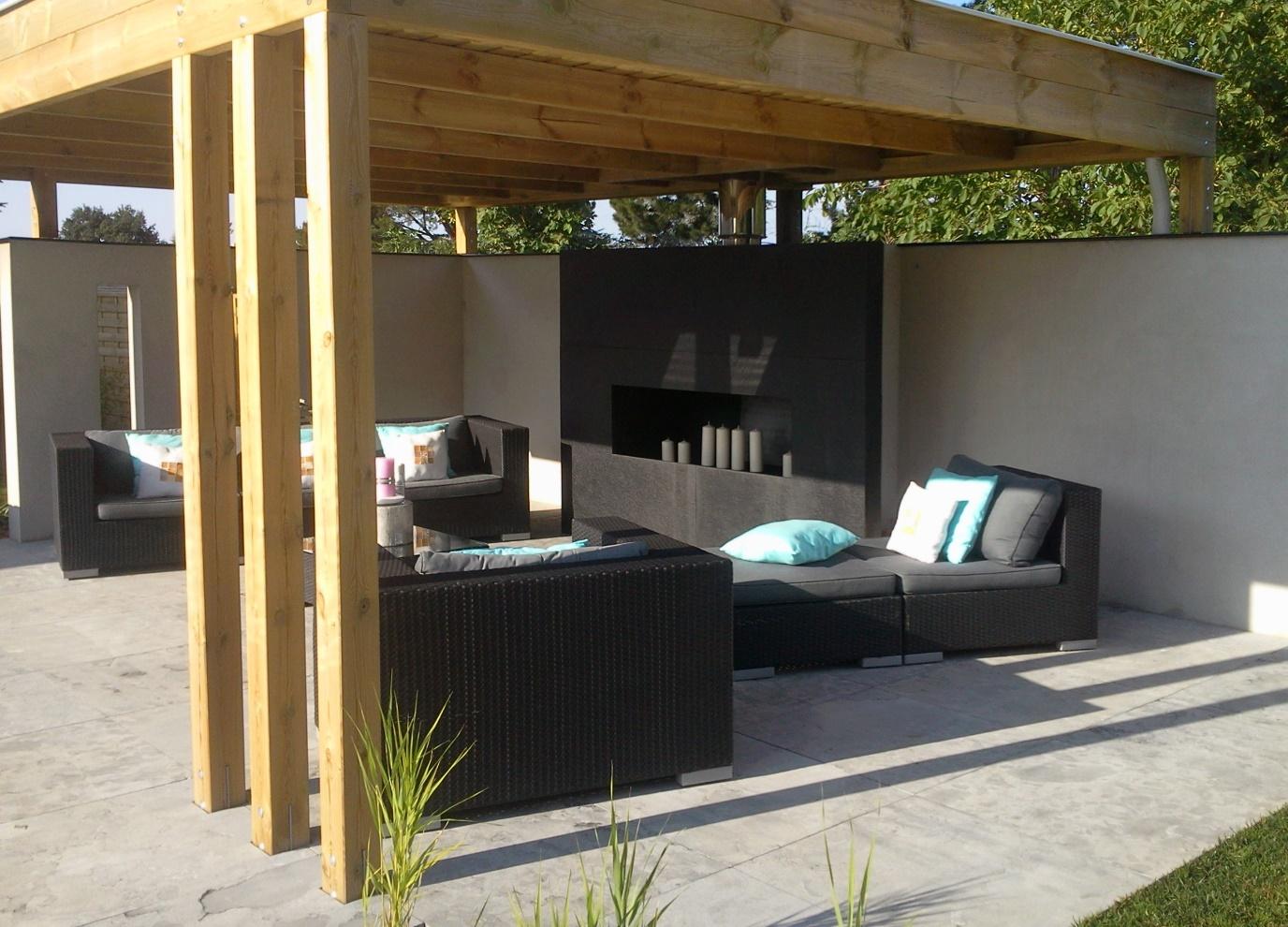 pergola en bois avec espace détente - Bois Expo