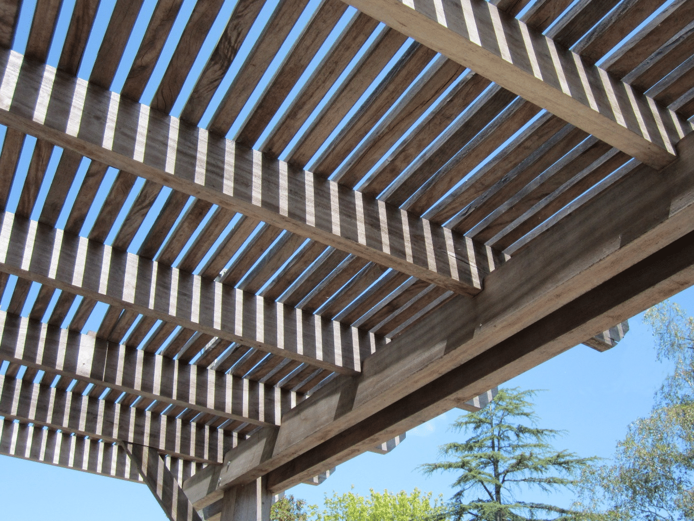 installation pergola bois